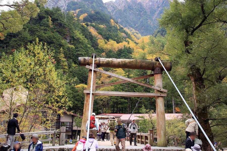 河童橋の秋景色(上高地)